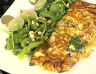 ıspanaklı omlet tarifi