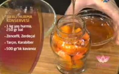 trabzon hurması konservesi